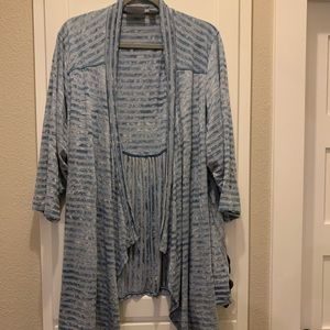 Shark tail hem cardigan